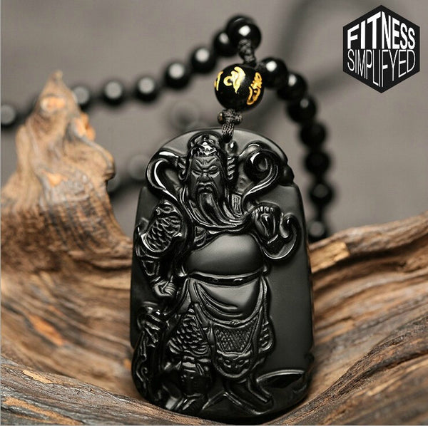 Black Obsidian Emperor Xuanwu Necklace