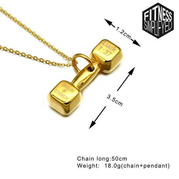 Luck 1:37 Dumbbell Pendant