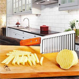 Stainless Steel Wavy Edged Potato Knife - Kitchen Cooking Gadgets