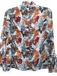 Fall Floral Ruffled Top
