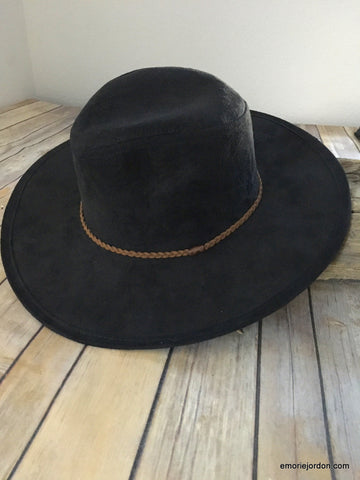 Suede Bohemian Long Brimmed Hat