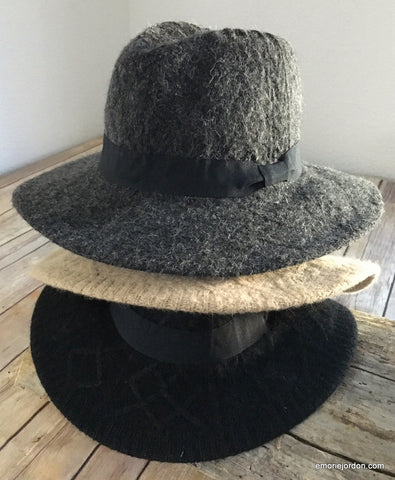 Sweater Homburg Brimmed Hat