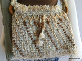 Vintage: Knit Beaded Cross body bag