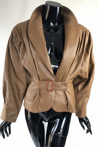 Taupe This Leather Jacket