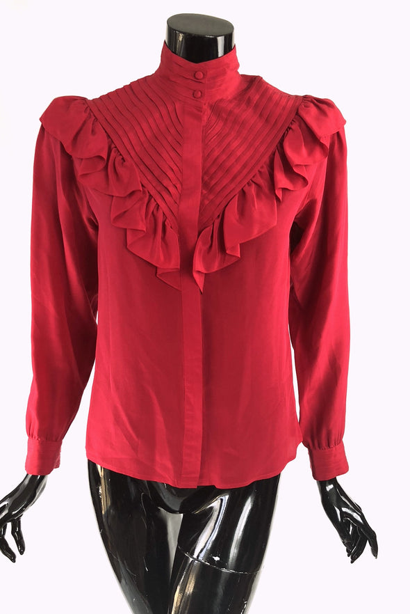 Lady in Red Blouse