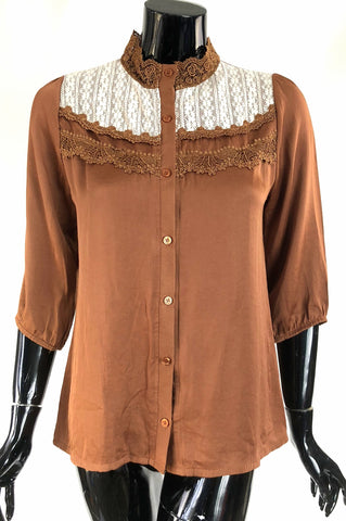 Latte Lace Blouse