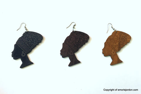 Tribal Headwrap Women Earrings