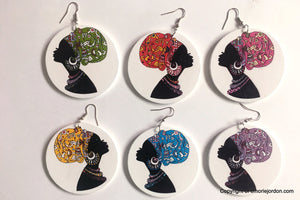 Colored Head Wrap Earrings