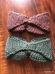 Crochet Bow Ear Warmers