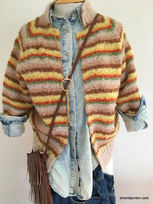 Vintage: Striped Cardigan