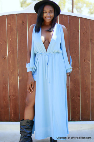 Billie Blues Romper Dress