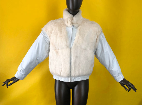 Leather Suede combo Vintage 80s Jacket by Wilson's Leather