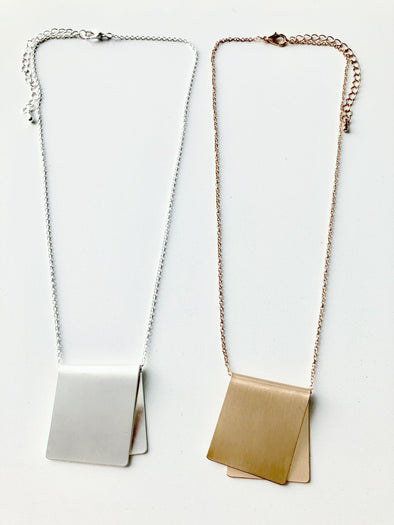 Folded Pendant Necklaces