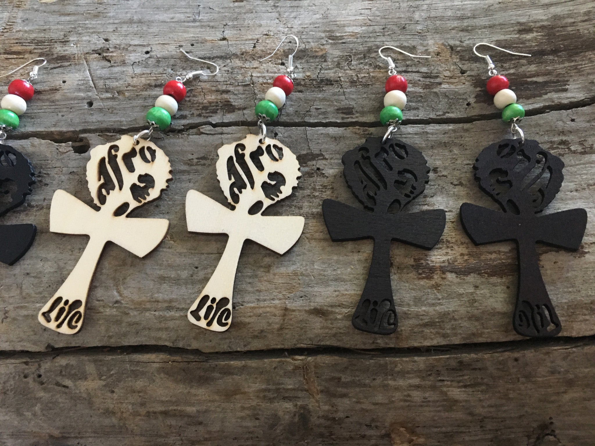 Afro Life Ankh Earrings