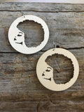 Afro American Wooden Earrings