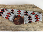 White Triangle Handmade Beaded Belt