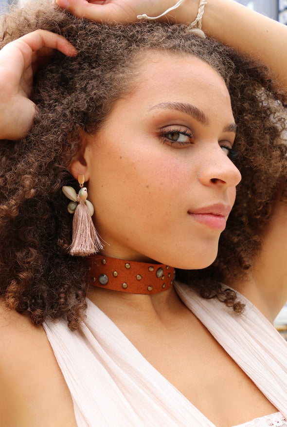 Cowrie & Tassels Earrings