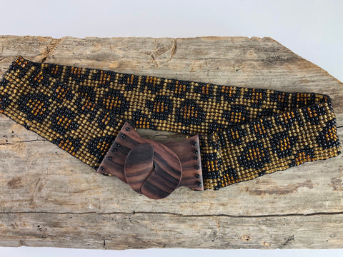 Leopard Print Handmade Beaded Belt