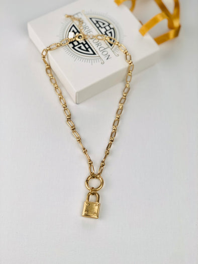 Sisters Keeper Lock Necklace