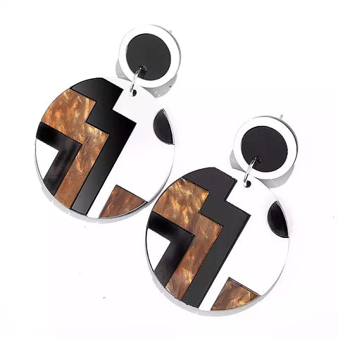 Geo Retro Earrings