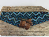Blue Ziggy Handmade Beaded Belt