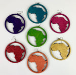 African In Words Wooden Earrings