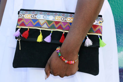 Zevia Embroidered Clutch