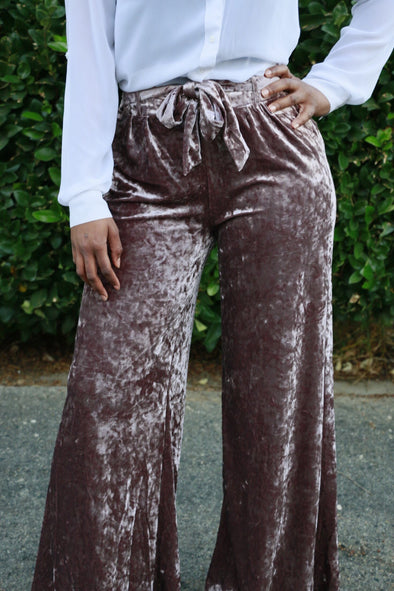 Champagne Crush Velvet Pants