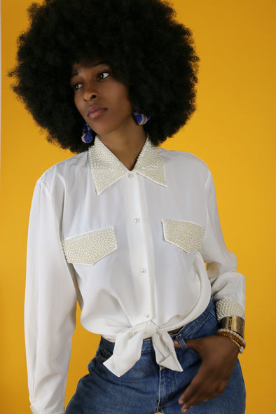 Vintage Pearly Girl Blouse