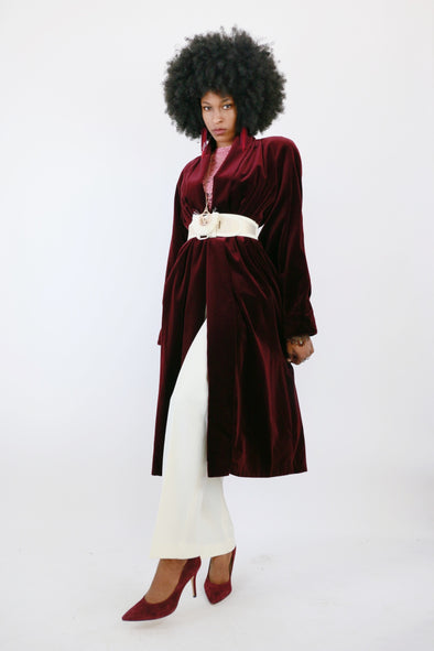 Luxe Velvet Canadian Trench by JS Collections