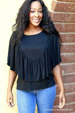 Ruffled Shield Top