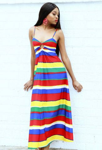 Striped 70s Vintage Dress