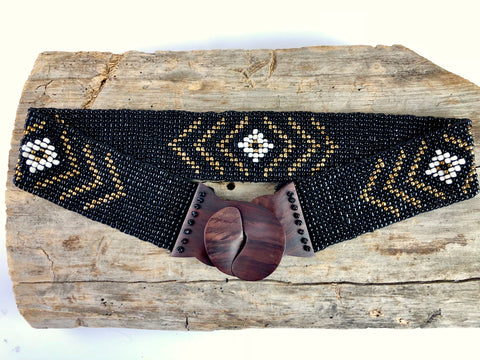 Black Tribal Handmade Beaded Belt