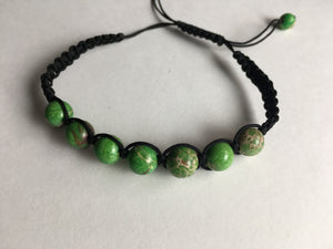 Green Peace Stone Braclet
