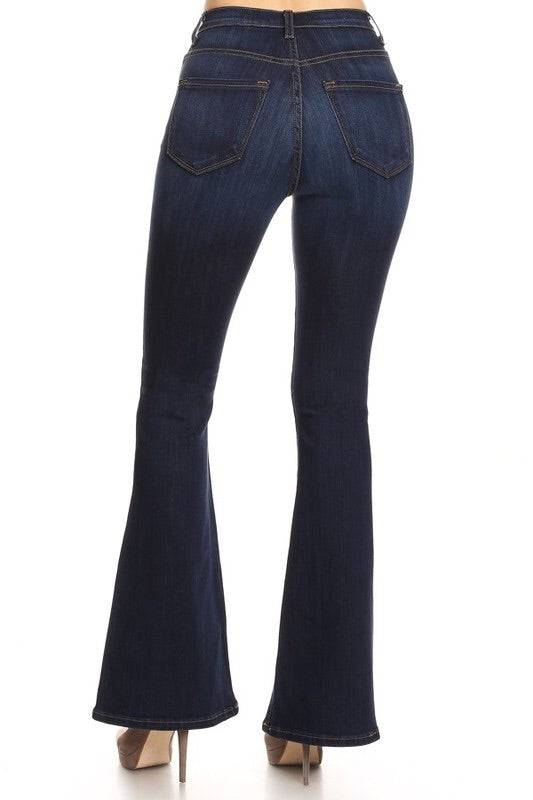 Button Fly Flare Jeans