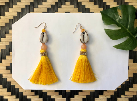 Golden Soul Tassel Earrings