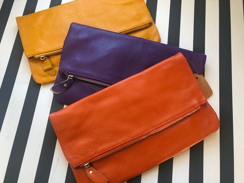 Luxe Leather Clutch Bag