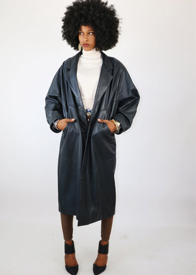 Vintage 90's New Jack City Trench Coat