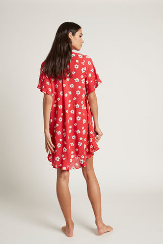 S/Sleeve Frill Dress