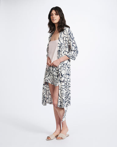 Woodcut Floral Robe