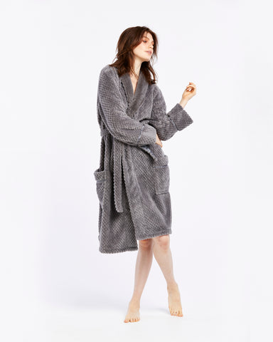 Fluffy Robe - Grey