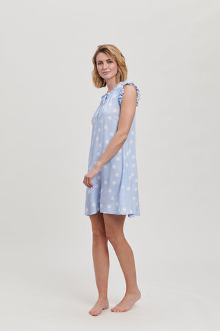 Bluebell Spot Frill Dress