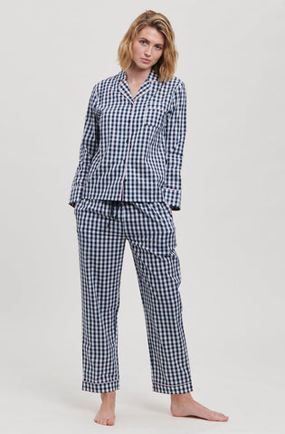 Navy Gingham Pyjama Set
