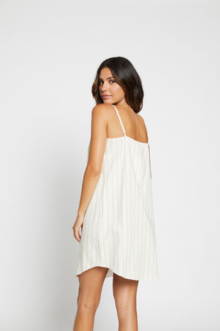Stripe Print Button Thru Nightie