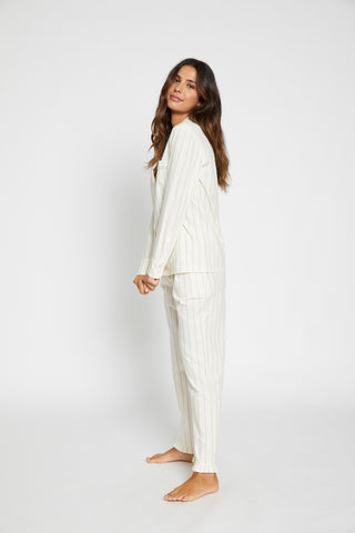 Stripe Print Pyjama Set