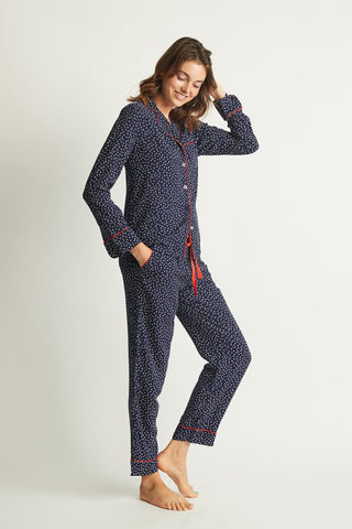 project rem girl-power-long-sleeve-pyjama navy