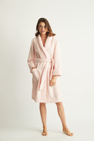 Ludd Fluffy Robe Pink