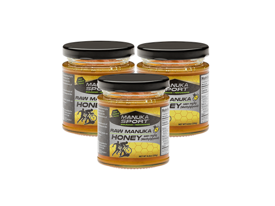 ManukaSport Manuka Honey 100+mg/kg 250g 3PACK - Manuka Sport