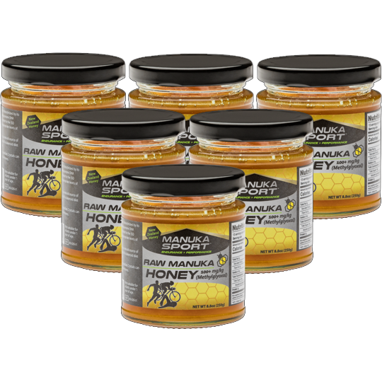 ManukaSport Manuka Honey 100+mg/kg 250g 6PACK - Manuka Sport