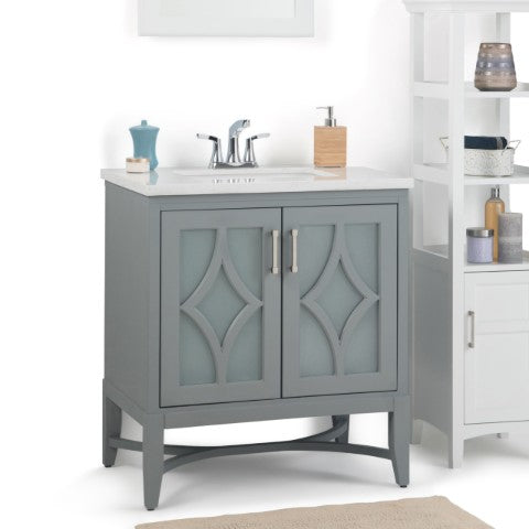 30 inch grey freestanding bathroom vanity
